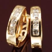 Arannyal galvanizált és Swarovski kristály ékszerek