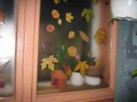 Az ablakom, őszi levelekkel