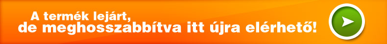 Ez a hirdetés lejárt, meghosszabbítva a következő termékkódon érhető el: 2801552108